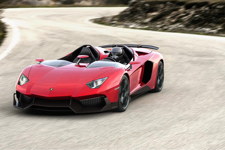 2012 Lamborghini Aventador J Concept Front Angle