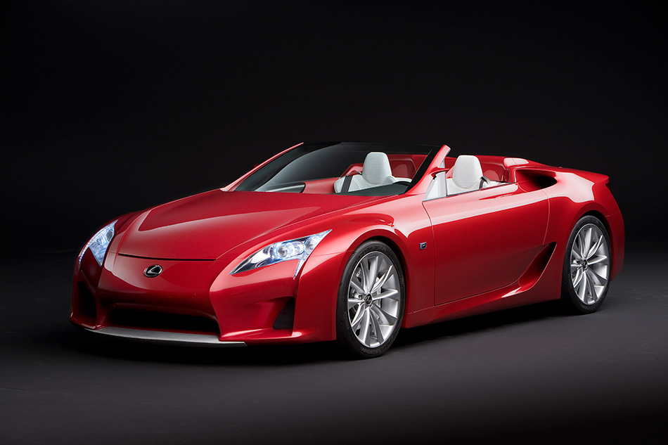2008 Lexus LF-A Roadster Concept Front Angle