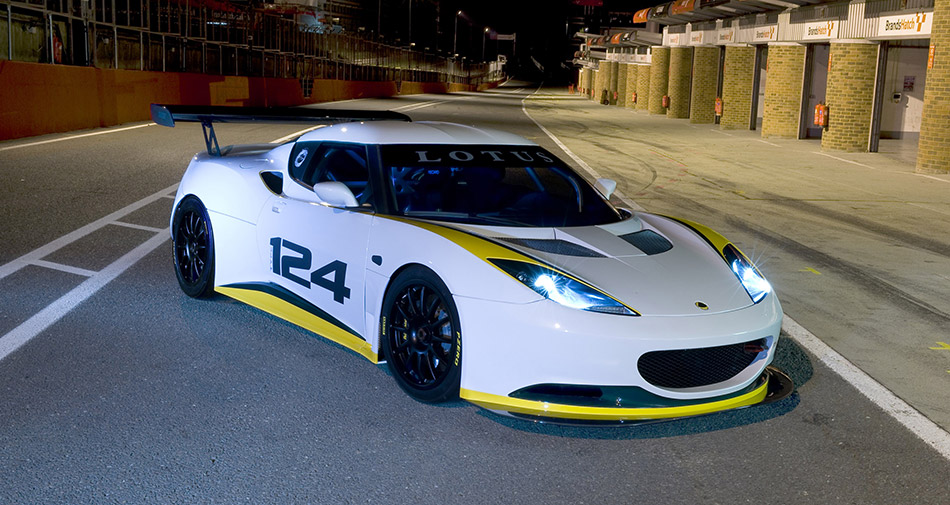 2010 Lotus Evora Type 124 Endurance Racecar Front Angle