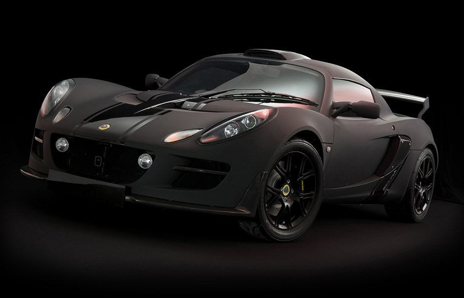 2012 Lotus Exige Matte Black Final Edition Front Angle