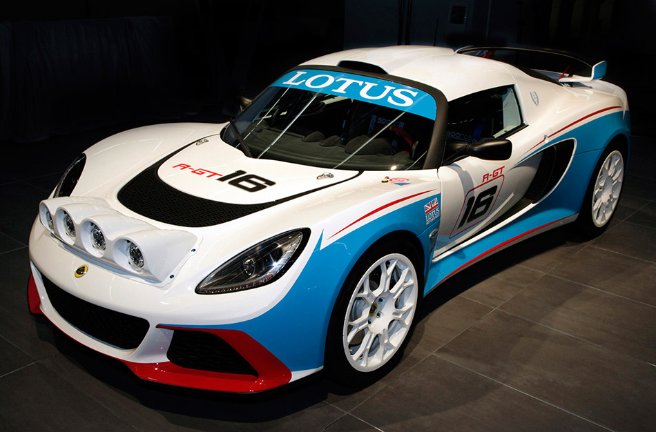 2012 Lotus Exige R-GT Rally Car Front Angle