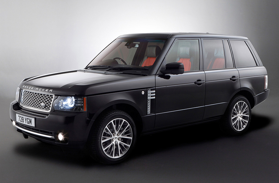 2011 Range Rover Autobiography Black Front Angle