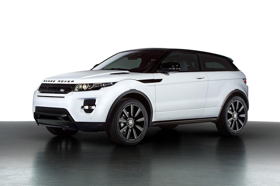 2013 Range Rover Evoque Black Design Front Angle