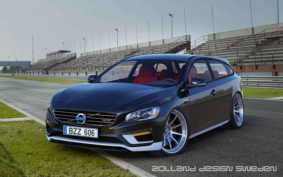 2014 Zolland Volvo V60 V8 Two Door Estate Concept Front Angle
