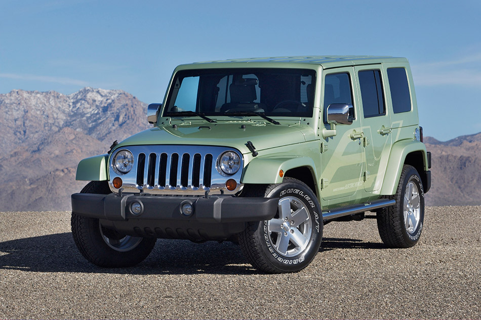 2009 Jeep Wrangler Unlimited EV Front Angle