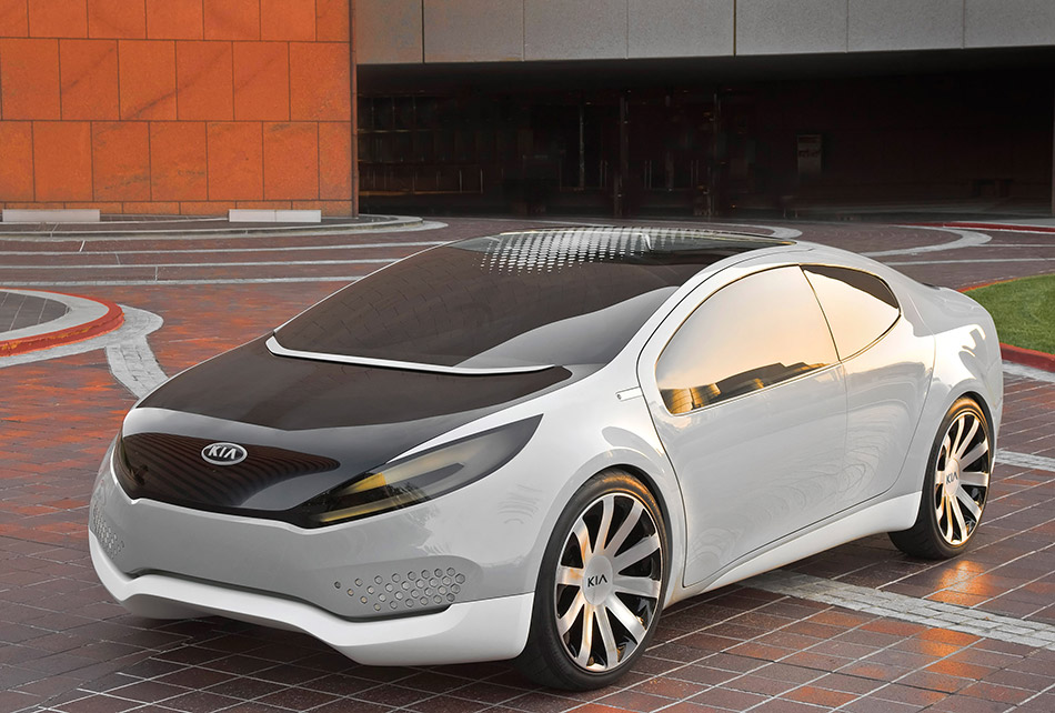 2010 Kia Ray Plug-in Hybrid Concept Front Angle