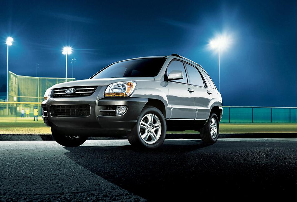 2007 Kia Sportage Front Angle
