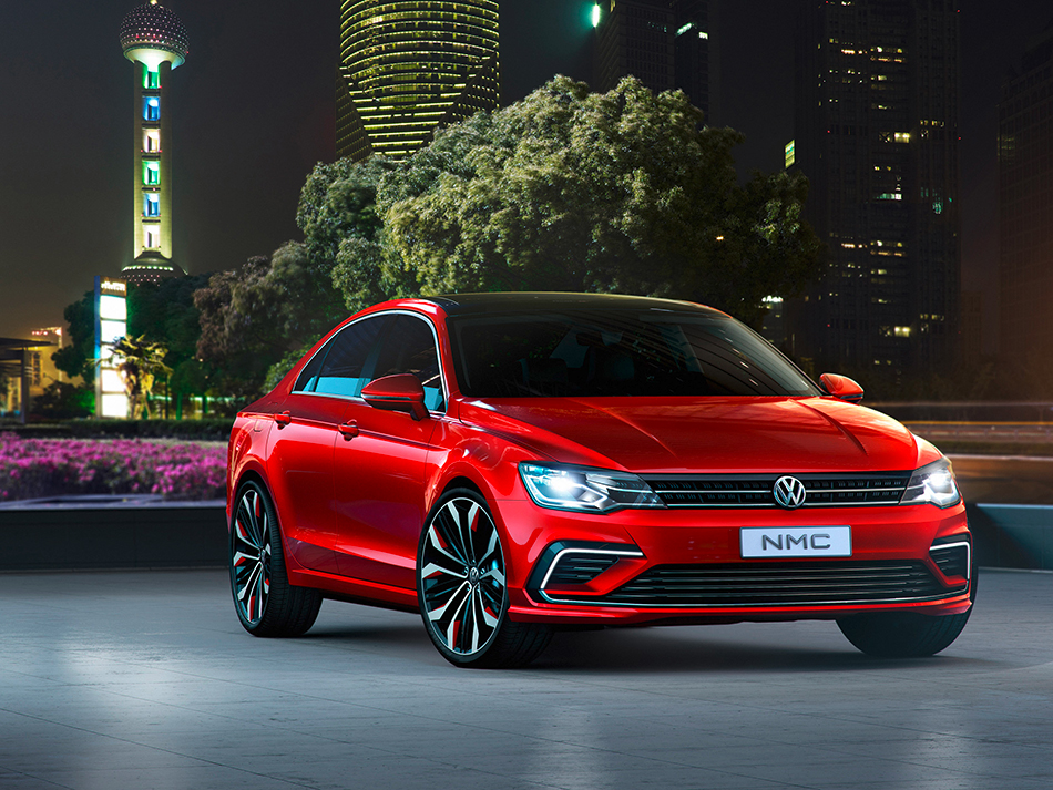 2014 Volkswagen New Midsize Coupe Concept Front Angle