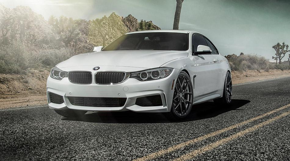 2014 Vorsteiner BMW F32 435i Alpine White Front Angle