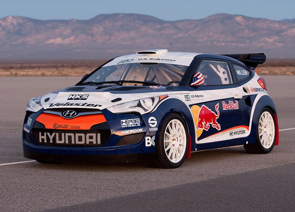 2011 Hyundai Veloster Rally Car Front Angle