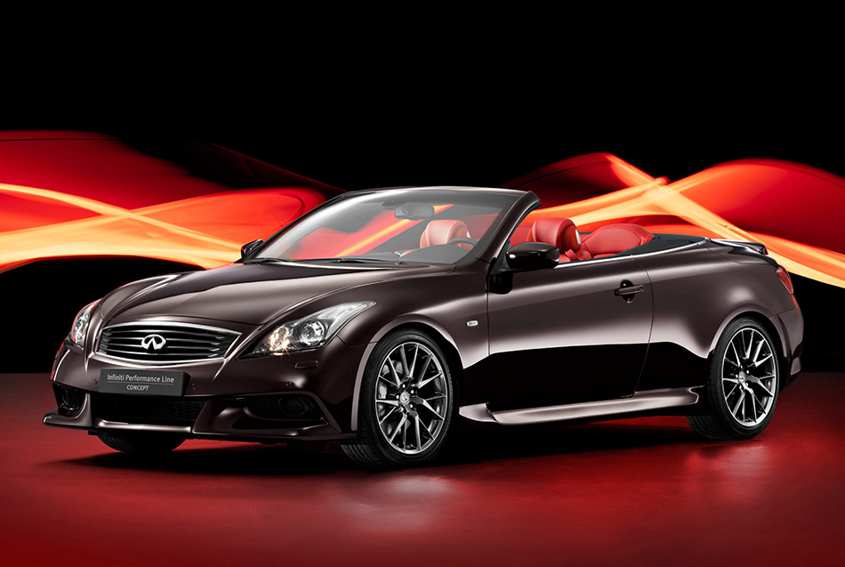2010 Infiniti IPL G Cabrio Concept Front Angle