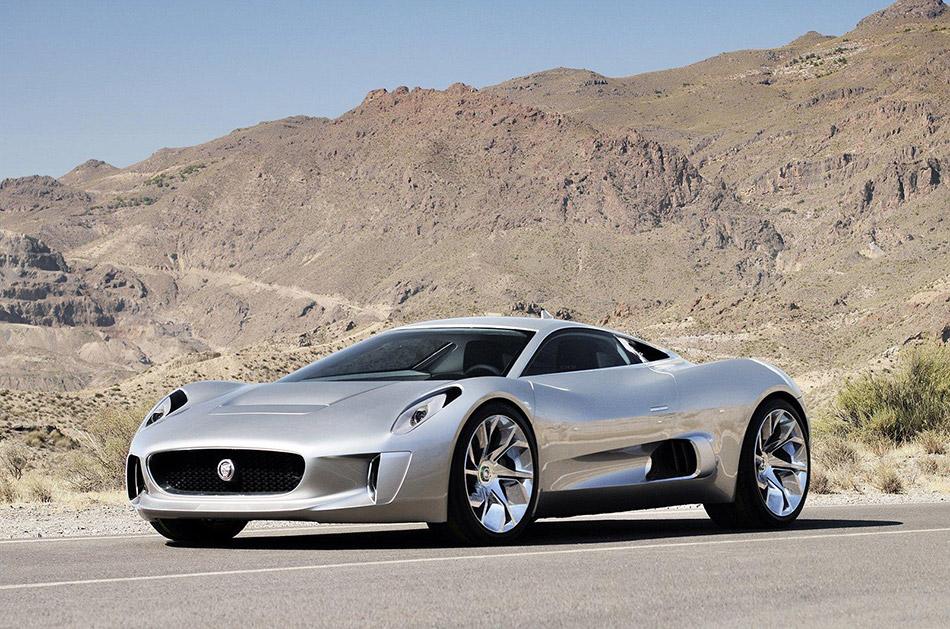 2010 Jaguar C-X75 Concept Front Angle