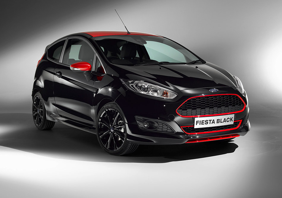 2014 Ford Fiesta Red-Black Edition Front Angle