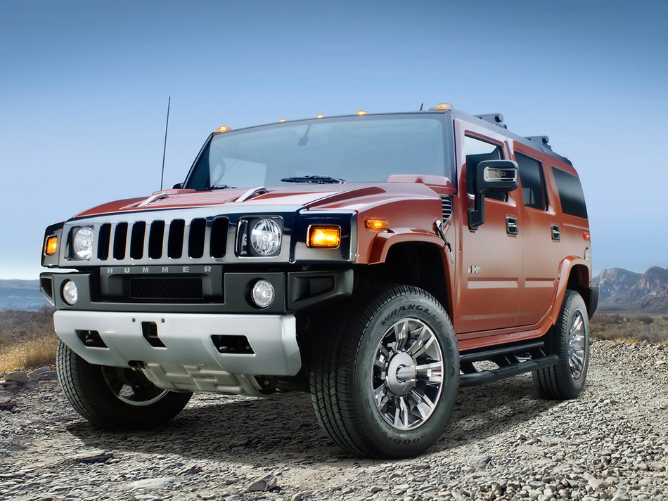 2009 Hummer H2 Black Chrome Limited Edition Front Angle