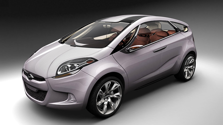 2008 Hyundai HED-5 i-Mode Concept Front Angle