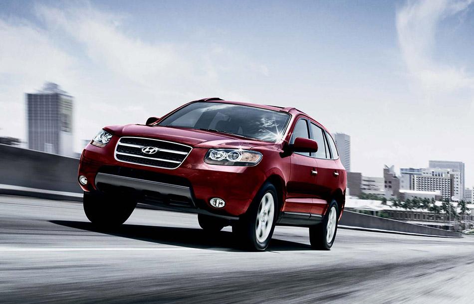 2007 Hyundai Santa Fe Front Angle