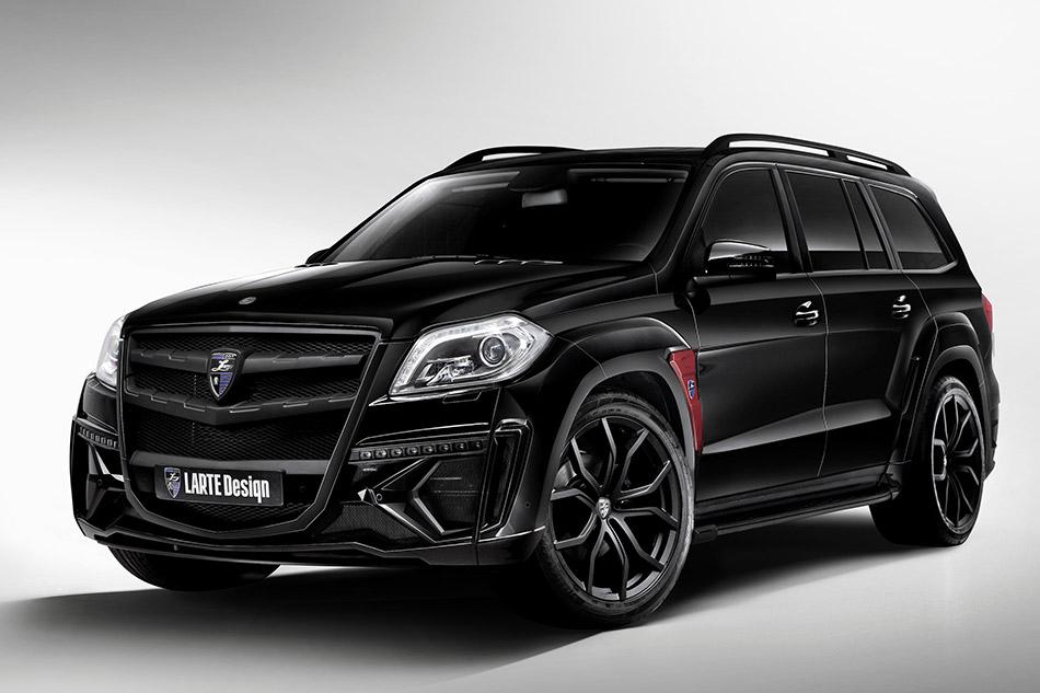 2014 Larte Mercedes-Benz GL Black Crystal Front Angle