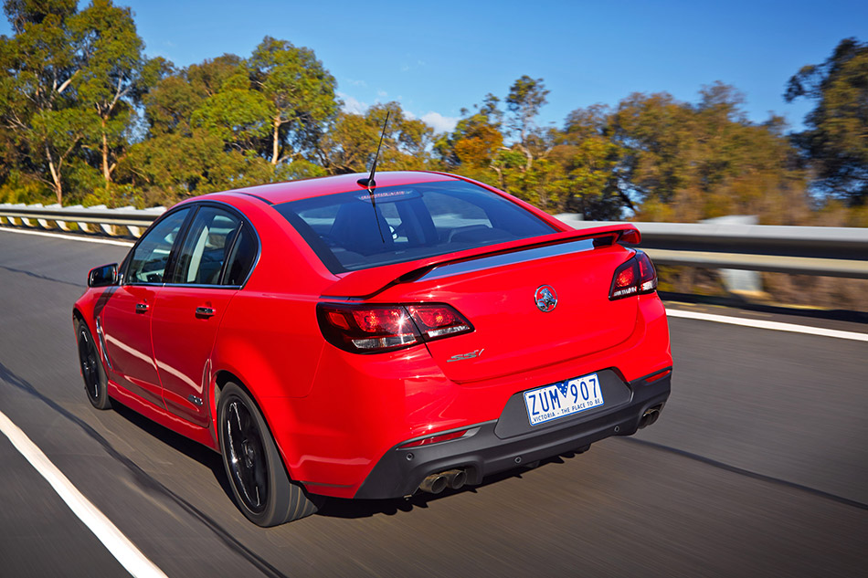 2014 Holden VF Commodore SS V RedLine Rear Angle