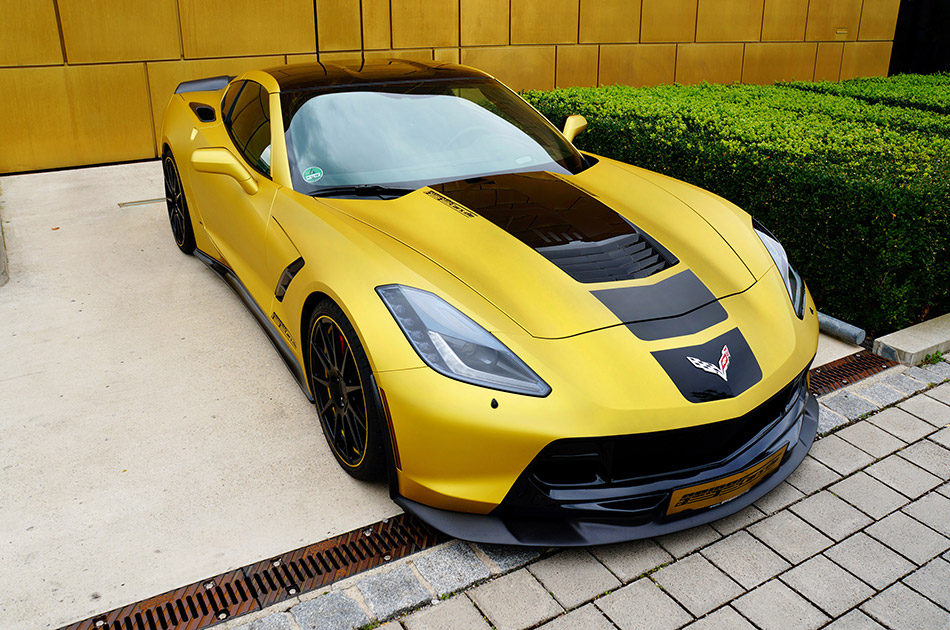 2014 GeigerCars Chevrolet Corvette C7 Stingray Front Angle
