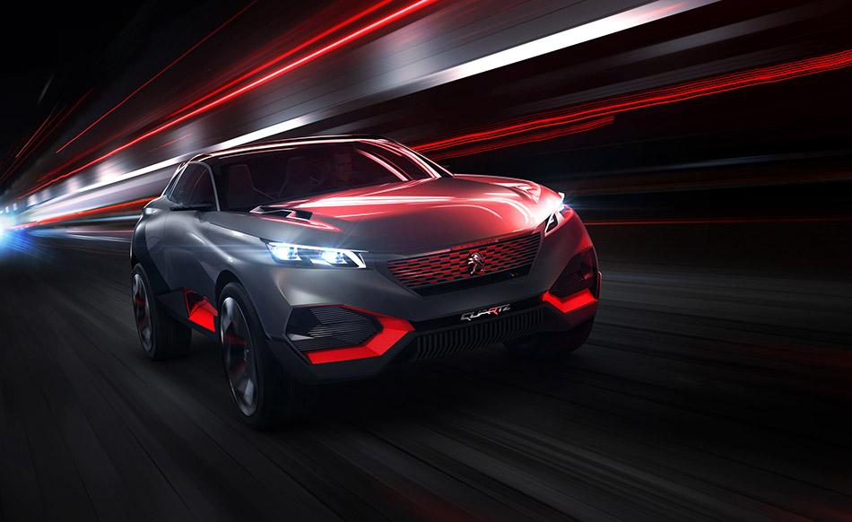 2014 Peugeot Quartz Concept Front Angle