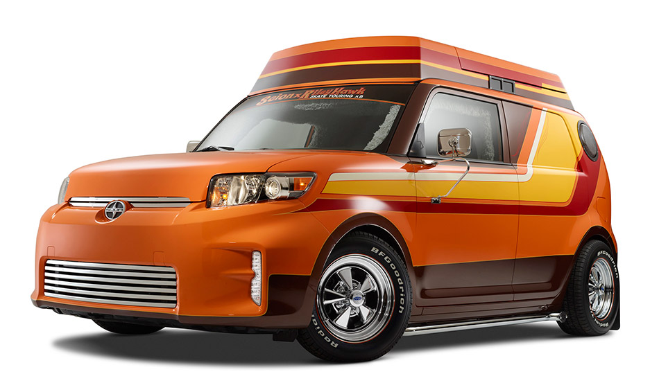 2014 Scion x Riley Hawk Skate Tour xB Front Angle