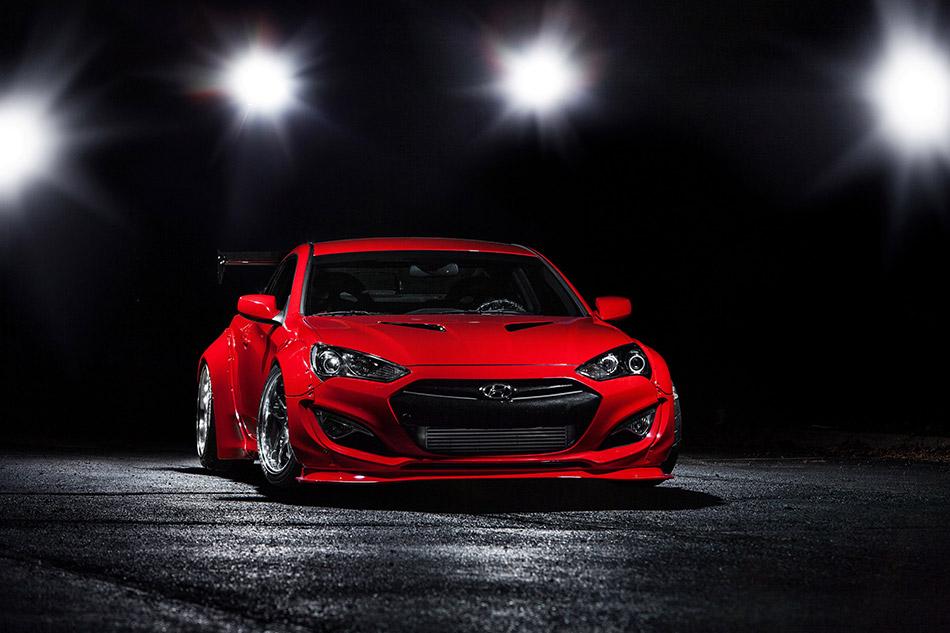 2015 BTR Hyundai Genesis Coupe Front Angle