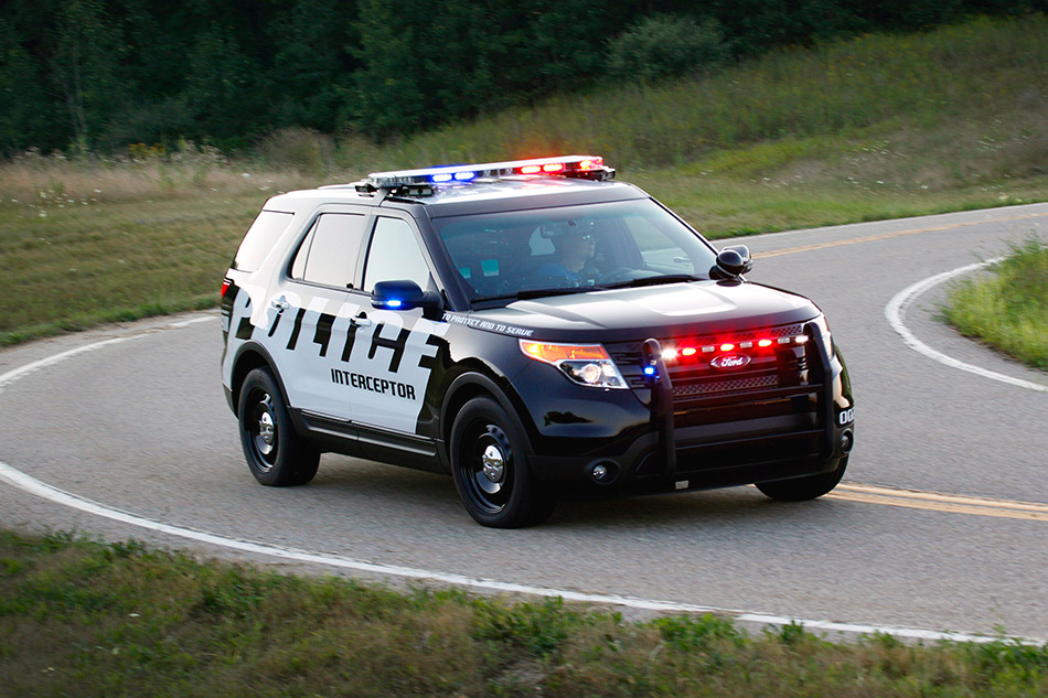2011 Ford Police Interceptor Utility Vehicle Front Angle