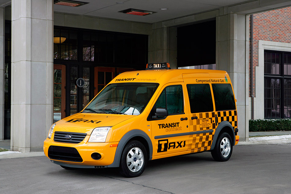2011 Ford Transit Connect Taxi Front Angle