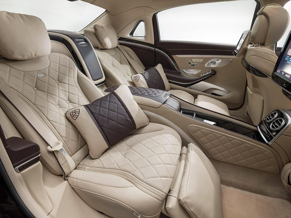 2016 Mercedes-Benz S-Class Maybach Rear Interior