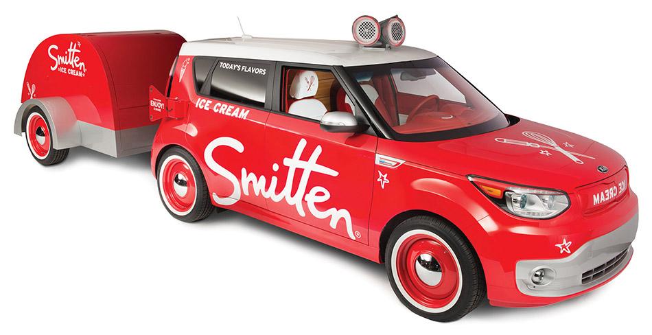 2015 Smitten Ice Cream Kia Soul EV Front Angle