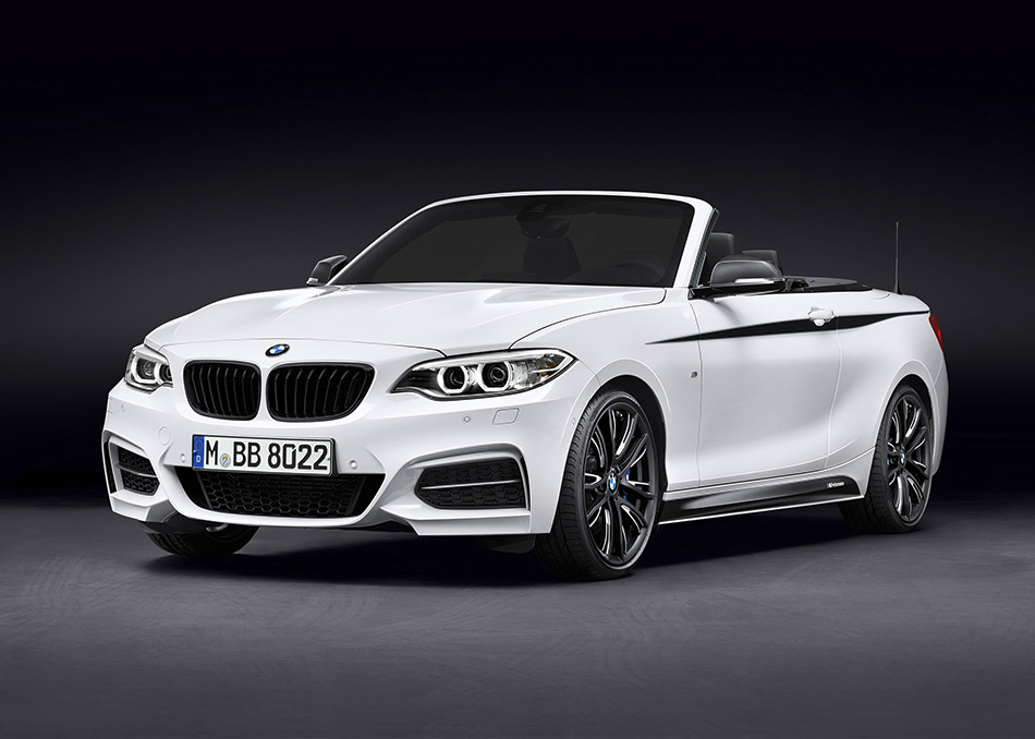 2015 BMW 2-Series Convertible M Performance Parts Front Angle