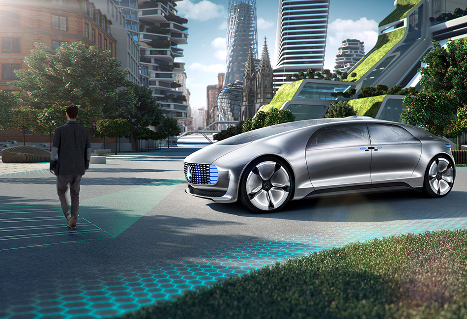 2015 Mercedes-Benz F015 Luxury in Motion Concept Front Angle