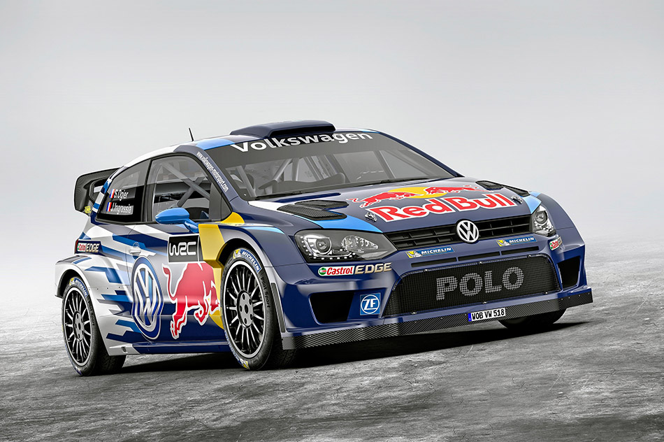 2015 Volkswagen Polo R WRC Racecar Front Angle