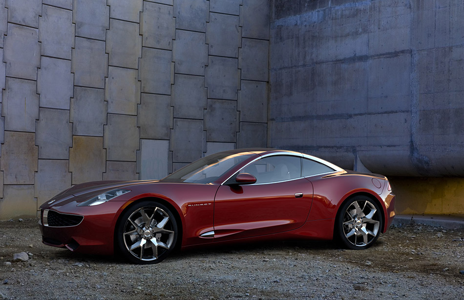 2009 Fisker Karma S Concept Front Angle