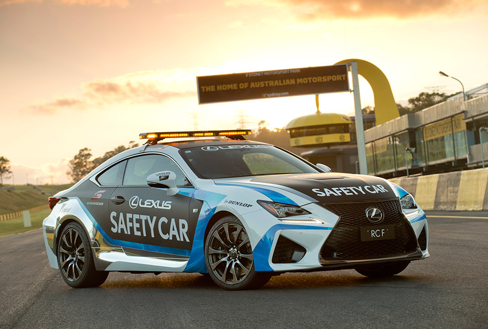 2015 Lexus RC F Safety Car Front Angle