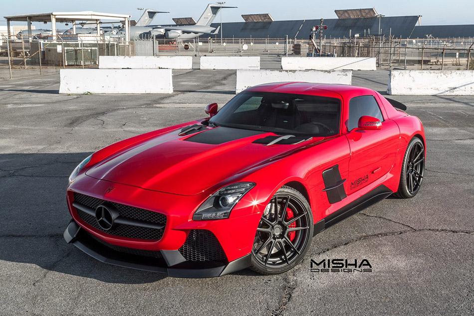 2015 Misha Mercedes-Benz SLS AMG Body Kit Front Angle