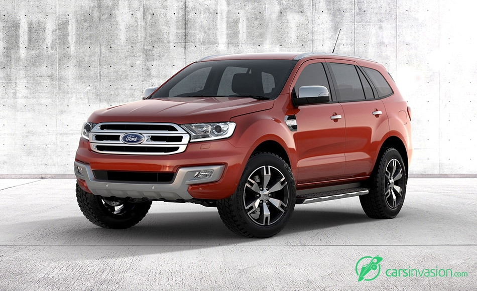 2016 Ford Everest Front Angle