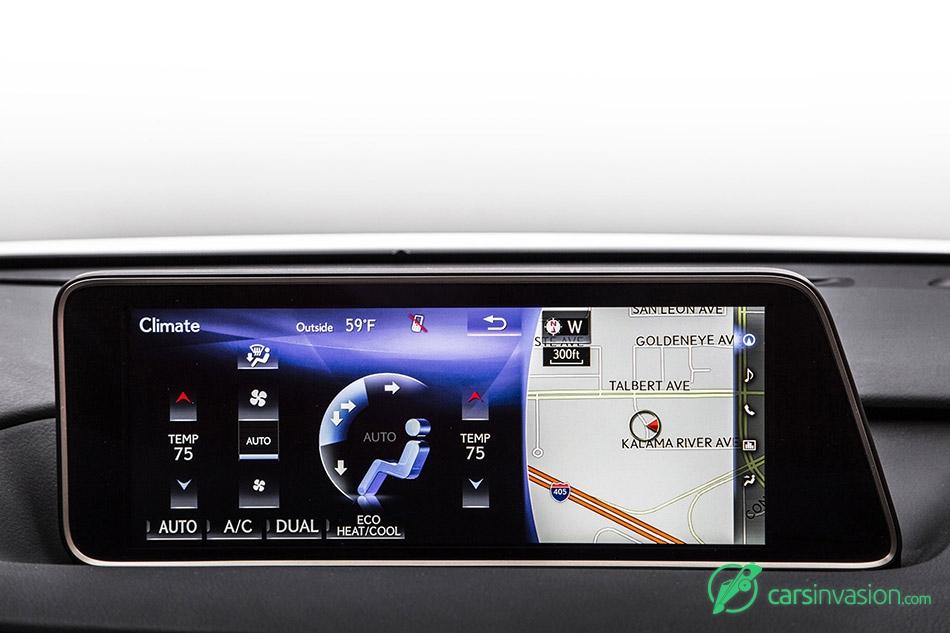 2016 Lexus RX 350 F Sport Climate Options Display