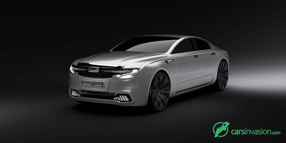 2020 Qoros 9 Sedan Concept Front Angle
