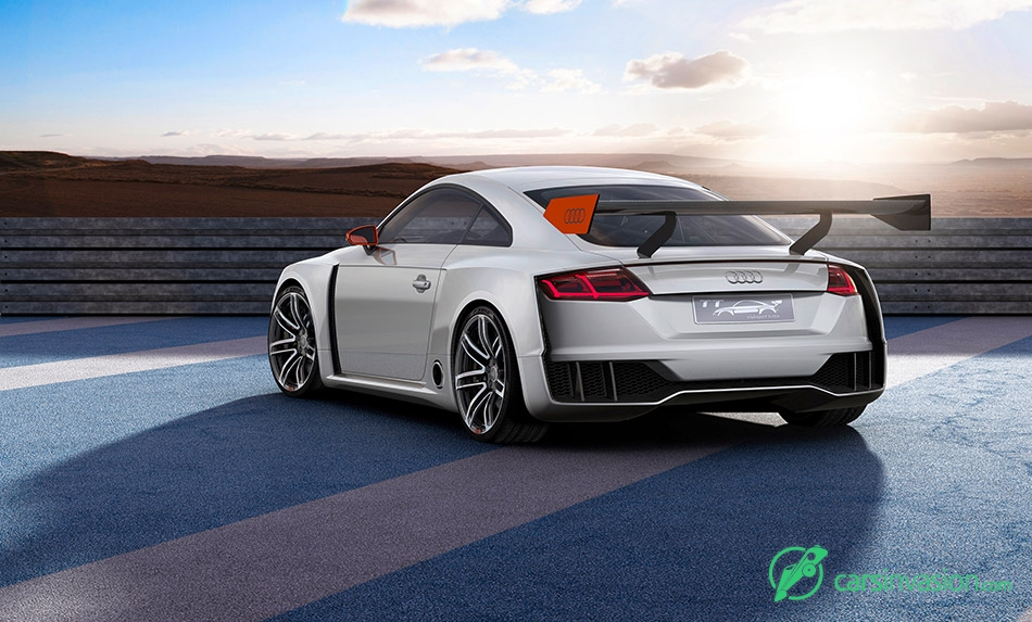 2015 Audi TT Clubsport Turbo Concept Rear Angle