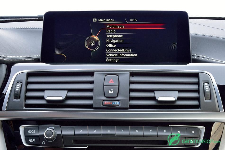 2016 BMW 3-Series Display Main Menu