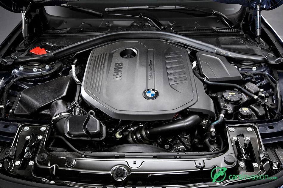 2016 BMW 3-Series six-cylinder petrol engine