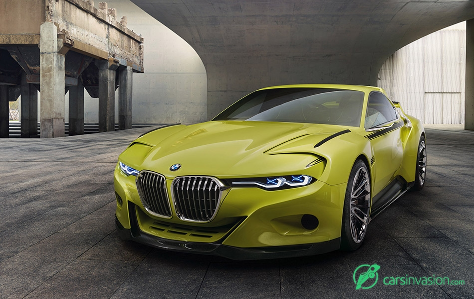 2015 BMW 3.0 CSL Hommage Concept Front Angle