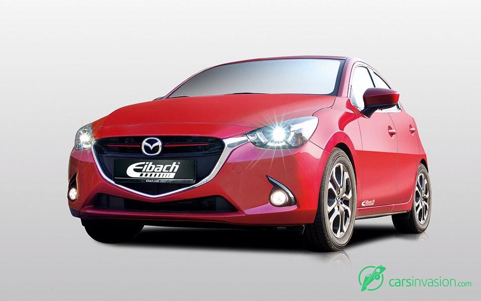 2015 Eibach Mazda 2 Front Angle