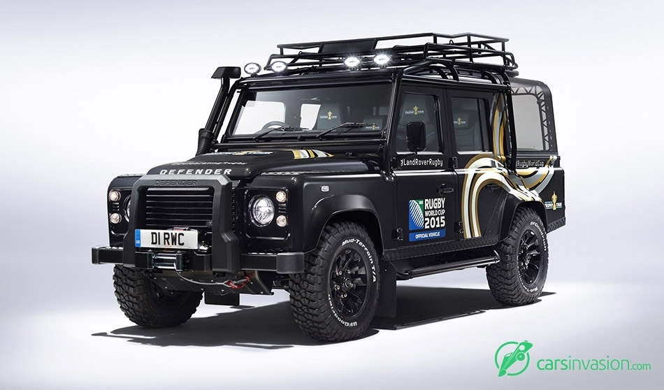 2015 Land Rover Defender Rugby World Cup Front Angle