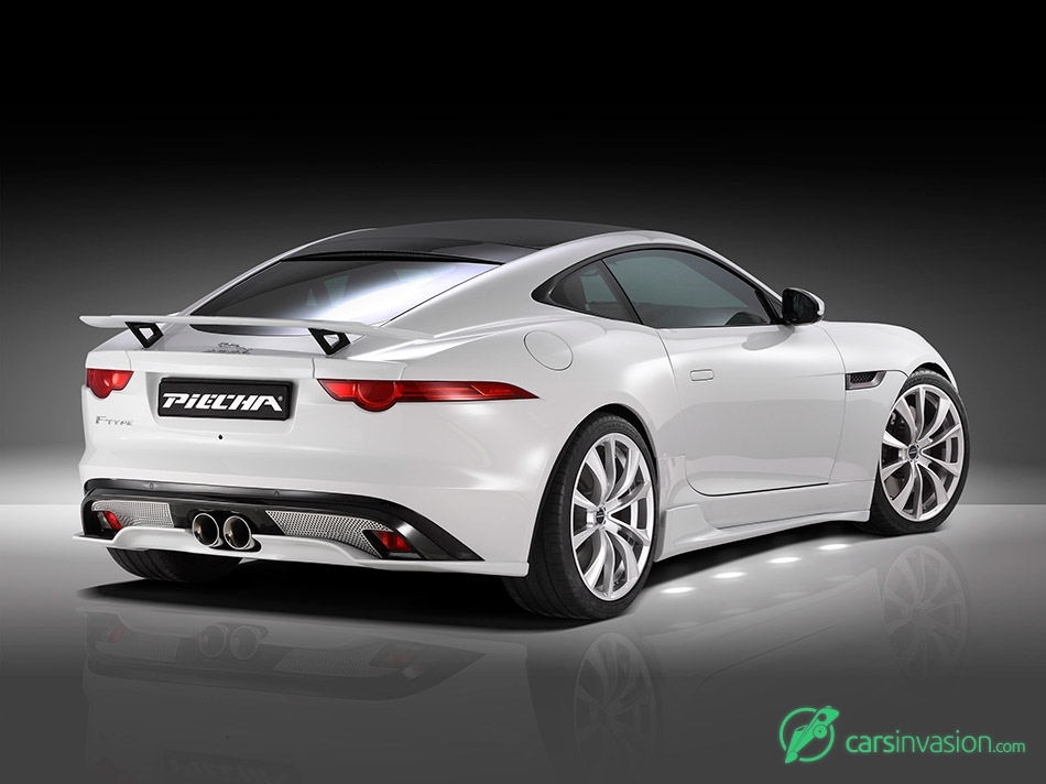 2015 Piecha Design Jaguar F-Type V6 Coupe Rear Angle