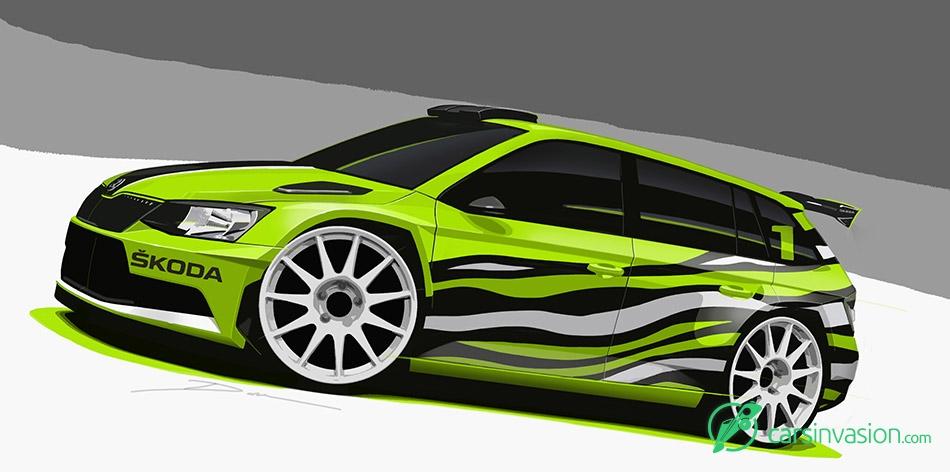 2015 Skoda Fabia R5 Combi Front Angle