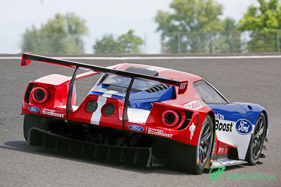 2016 Ford GT Le Mans Racecar Rear Angle