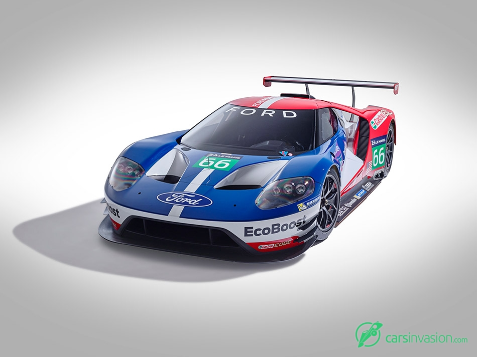 2016 Ford GT Le Mans Racecar Front Angle
