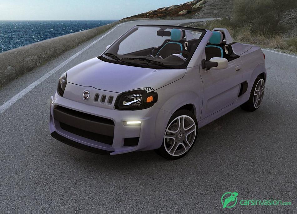 2010 Fiat Uno Cabrio Concept Front Angle